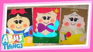 Princesas Disney //Cuadernos decorados // ideas fáciles y muy económicas ❤️