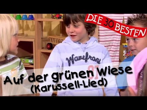 Auf der grünen Wiese (Karussell-Lied) - Singen, Tanzen und Bewegen || Kinderlieder