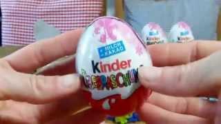 Новые 24 яйца киндер сюрприз для девочек. Киндер сюрприз на русском языке смотреть онлайн.
