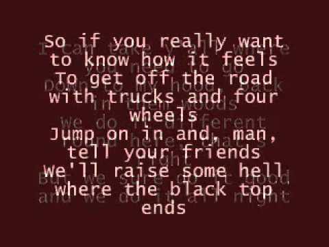 Dirt Road Anthem Jason Aldean w/t lyrics on the screen ...