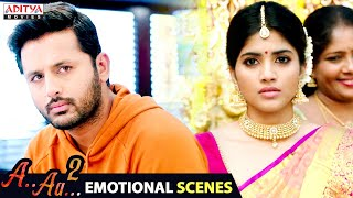 Nithiin, Megha Akash Emotional Love Scenes || A AA 2  Latest Hindi Dubbed Movie @Aditya Movies