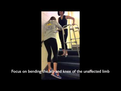 how to use crutches pwb weight on stairs