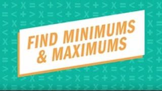 Find Minimums & Maximums TI-84 Plus CE graphing calculator