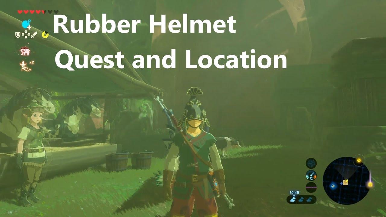 Rubber Helmet Location And Quest The Legend Of Zelda