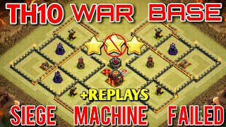 BEST TH 10 WAR BASE [ANTI BOWITCH]  ANTI 3 STARS TH10 WAR BASE - CLASH OF CLANS