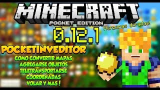 Minecraft pe 0.12.0 - 0.12.1 - PocketInvEditor - Compatible - Descarga - Tutorial Completo