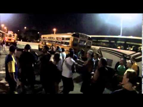 FIght in PArking lot of Milwaukee Brewers stadium Miller Park
