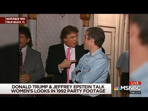 Video emerges showing Trump and Jeffrey Epstein partying with cheerleaders in 1992