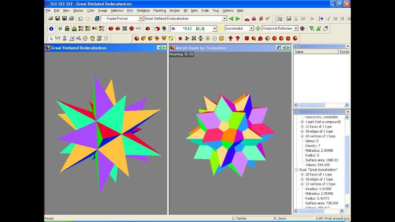 Stella4d sofftware para estudiar los cuerpos geom tricos for Programa para dibujar en 3d