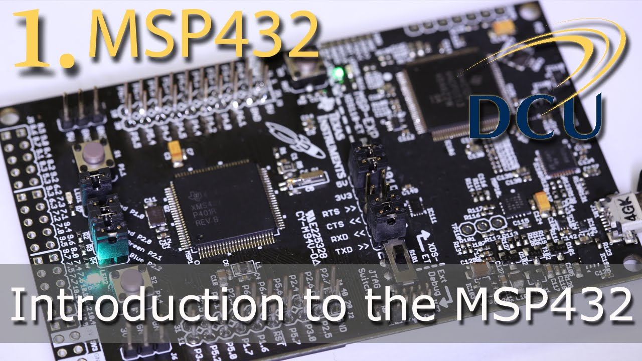 The MSP432: Introduction to the Launchpad, its RTOS, and IDEs (Energia,  CCSv6)