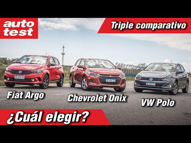 ¿Cuál elegir? Nuevo Onix vs. VW Polo vs. Fiat Argo