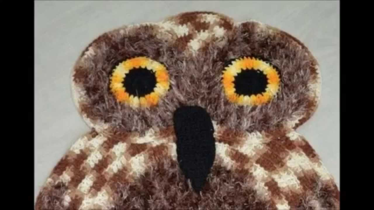 How to crochet owl rug free pattern - YouTube