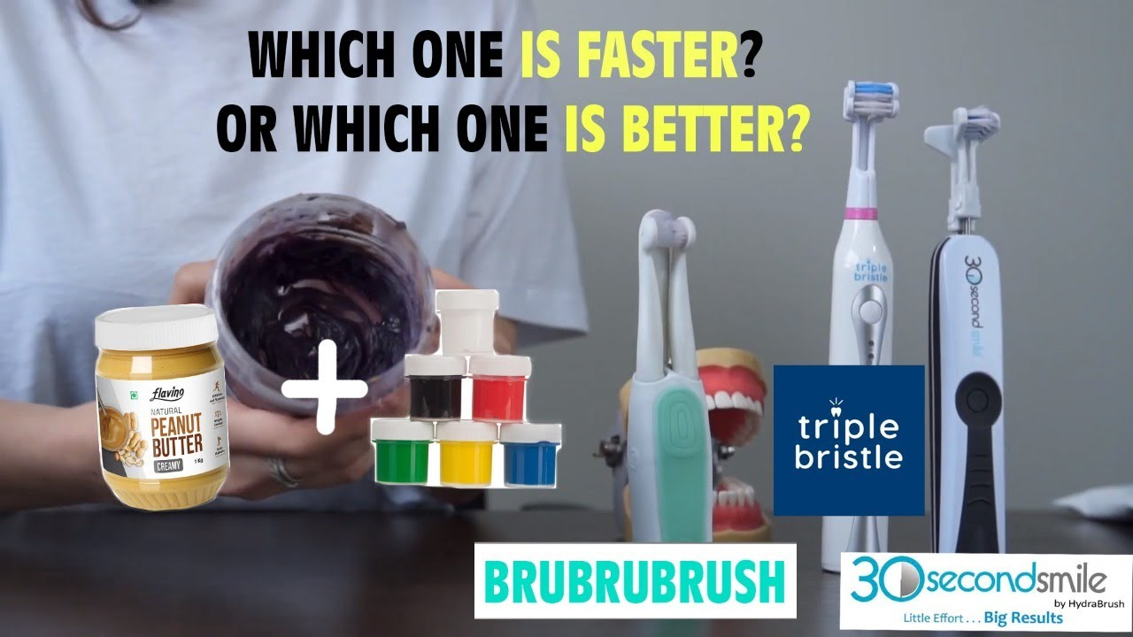 Toothbrushes Battle 30 Seconds Smile Vs Triple Bristle Vs