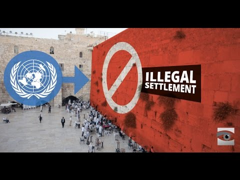 The Western Wall is an Illegal Settlement