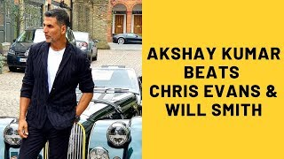 Akshay Kumar Beats Chris Evans And Will Smith In This Unbelievable Record