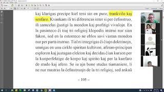 05 | La Sotesana Instruo de Ŭonbulismo | 에스페란토 원불교 대종경 공부 (zoom)