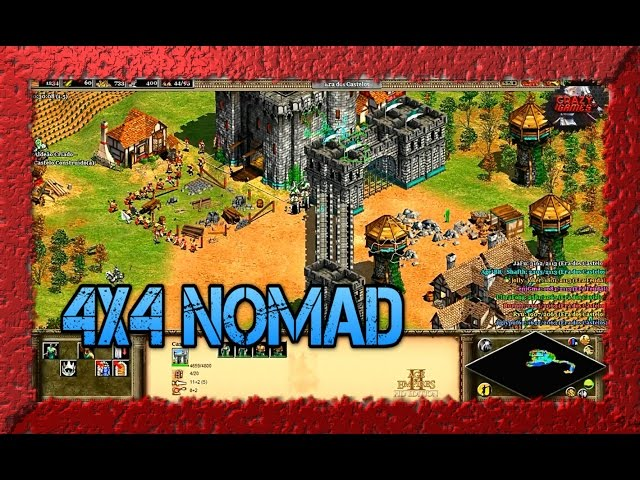 Age of Empires 2 HD 4x4 Nomad Goths Gameplay PT BR