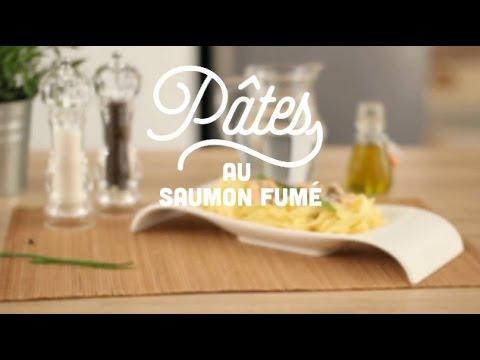 recette-des-pâtes-au-saumon-fumé---cuisineaz