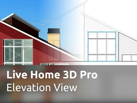 Live Home 3D Pro for iOS / iPadOS Tutorials - Elevation View