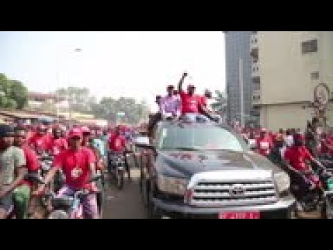 Opposition supporters protest in Guinea