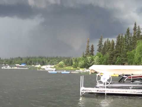 Tornado near Emma Lake, Saskatchewan