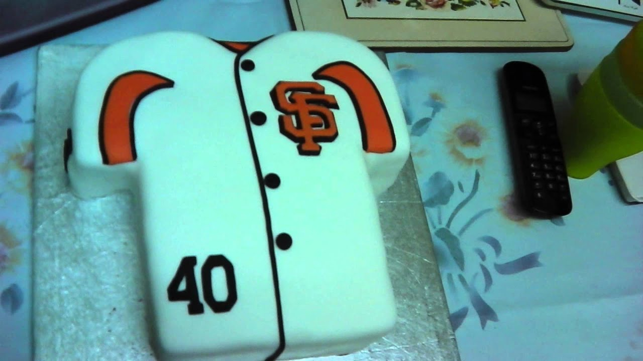 My Awesome San Francisco Giants Birthday Cake Youtube