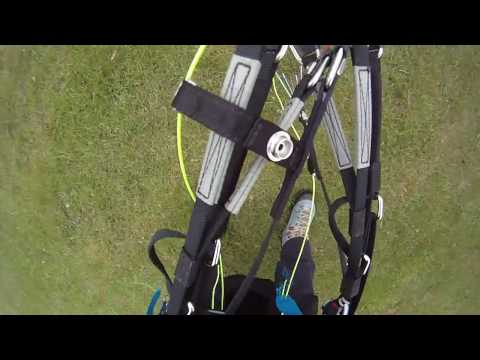 paragliding winch tow  bridle break