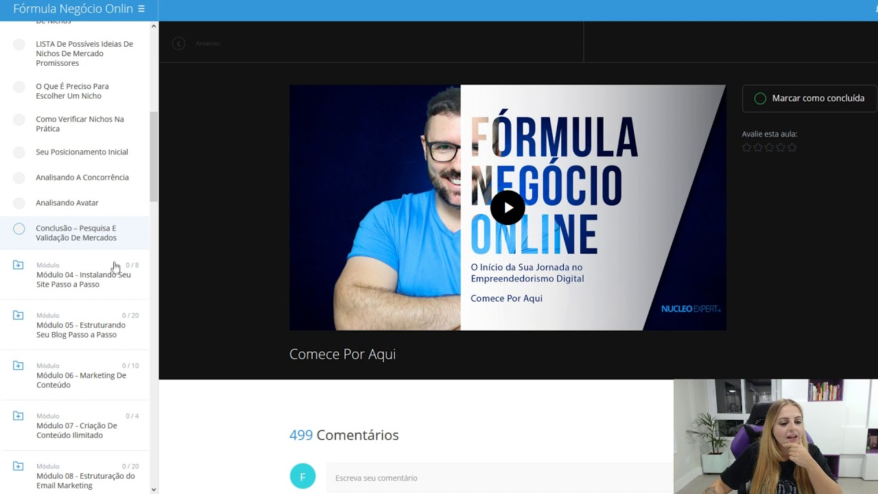 formula negócio online area de membros