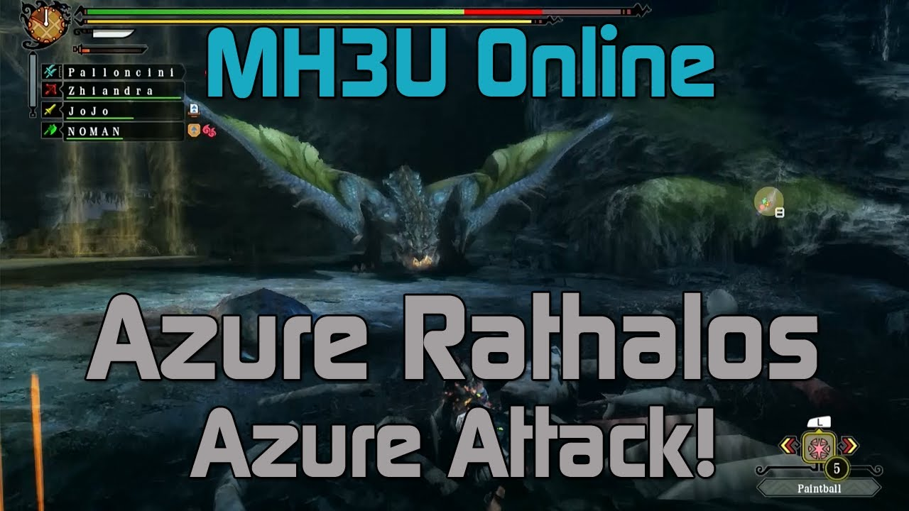 mh3u monster hunter 3 ultimate online hr5 azure attack
