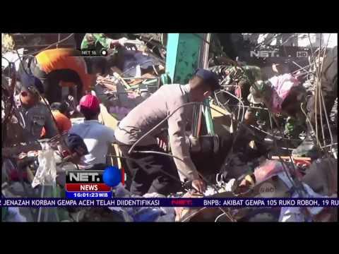 Petugas Gabungan Teruskan Pencarian Korban Gempa Aceh - NET 16