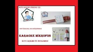 Karaoke Mikrofon _ Kutu Açılımı ve İnceleme Videosu-32-