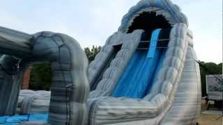 Roaring River 22 Foot Inflatable Water Slide | Wet Or Dry Slide| Cincinnati Dayton Rental