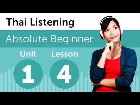 Luyện nghe tiếng Thái- Bài 4: Hoạt động hằng ngày