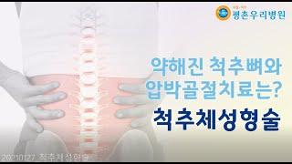 [안양정형외과 평촌우리병원] 약해진 척추뼈와 압박골절 …