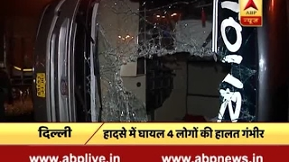 Delhi: Around 25 injured as truck rams into bus