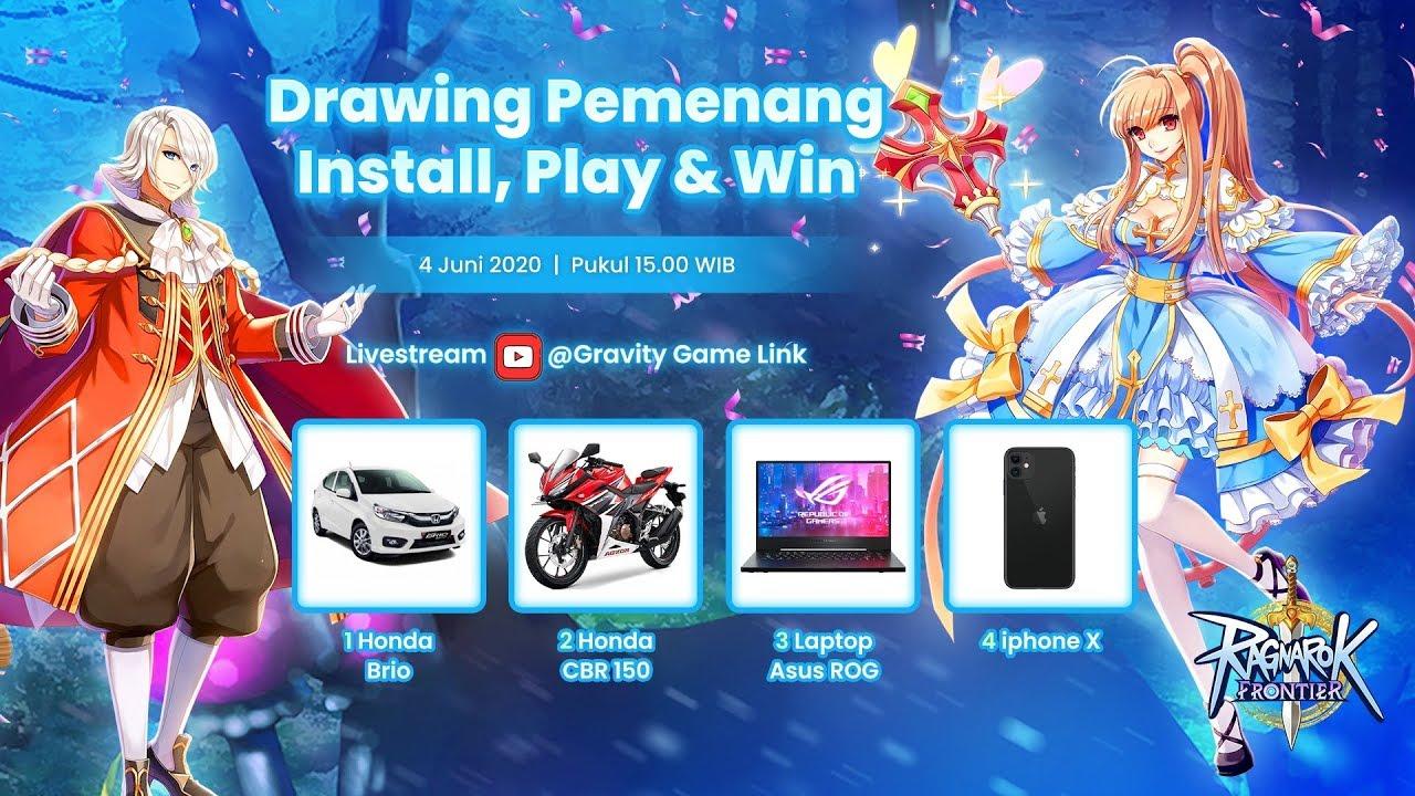 Livestreaming Drawing Pemenang Install Play & Win