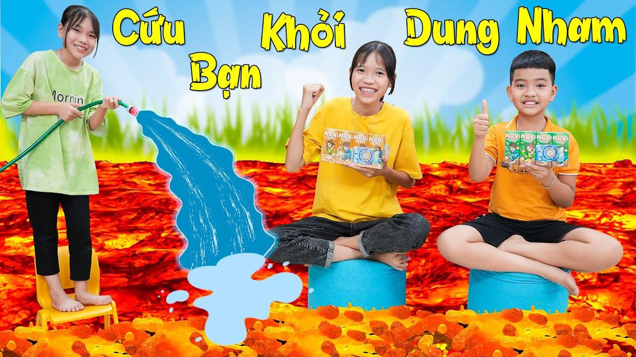 Cùng NuVi Giải Cứu Những Người Bạn Khỏi Dung Nham ♥ Min Min TV Minh Khoa