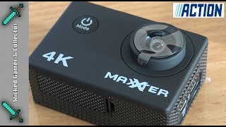 Action Store: WIFI Maxxter 4K / 1080p Dash Action Cam / Camera Unboxing & Review