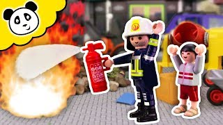 Playmobil Feuerwehr - Große Rettungsaktion auf der Baustelle! - Playmobil Film