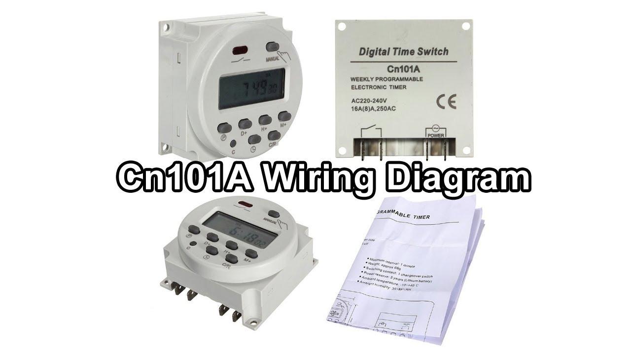 Cn101A Wiring Diagram | 220V AC Digital Timer Switch  YouTube