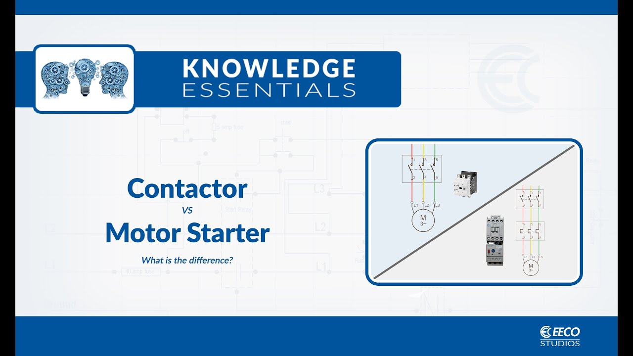 Contactor or Motor Starter - What is the Difference?