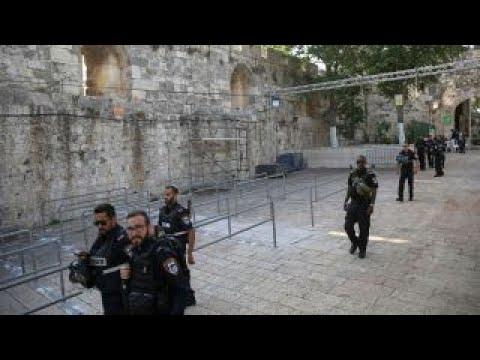 Muslim leaders urge a return to holy site in Jerusalem