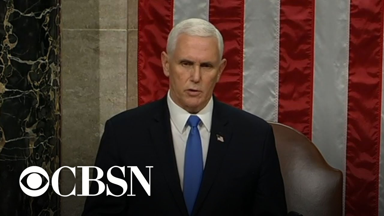 Pence announces Biden as winner after Congress finishes electoral vote count
