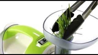 VerasuTV: สกัดน้ำจากต้นข้าวสาลี ด้วยเครื่องสกัดน้ำผักผลไม้แยกกาก/ Juice Extractor