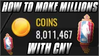 NBA LIVE MOBILE | HOW TO MAKE MILLIONS WITH THE CHINESE NEW YEAR PROMO | INSANE COIN MAKING METHOD