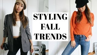 Styling Fall to Winter Trends (Blogger Inspired Outfits!) | rachspeed