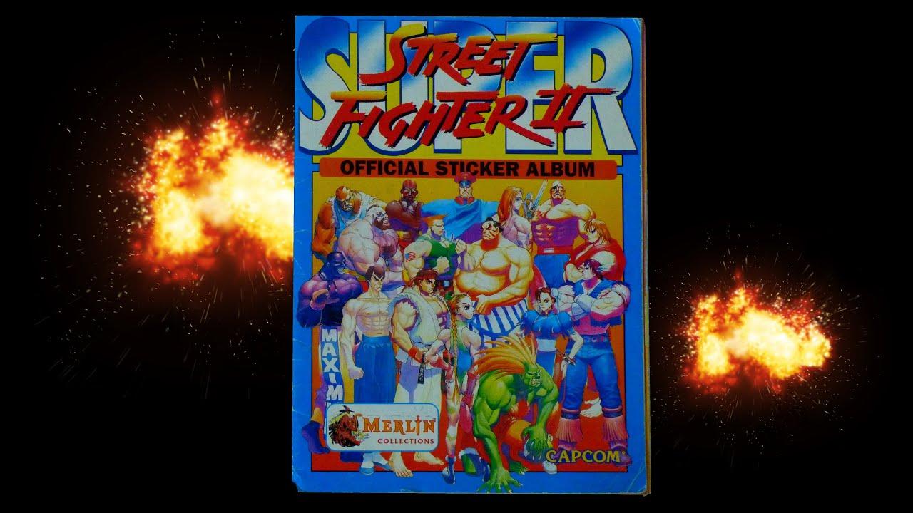 Super street fighter ii 2 official sticker album merlin panini 1991 1994