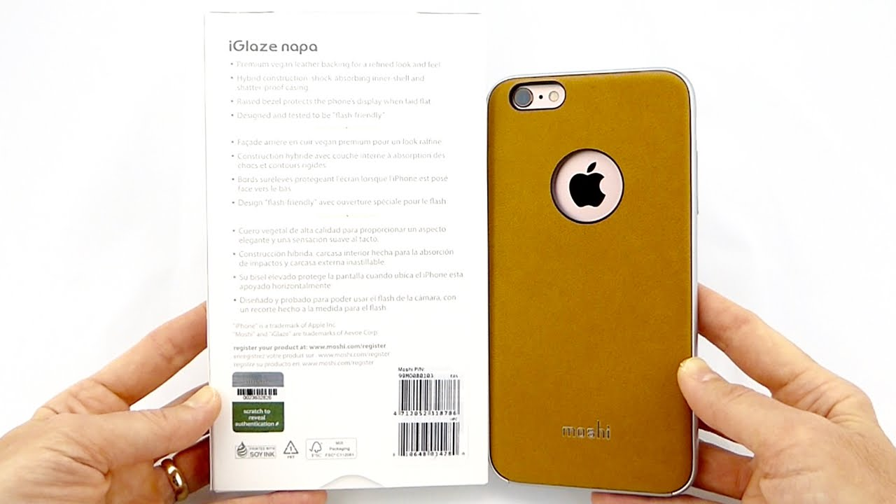 half off 316dd 09b3c Moshi iGlaze Napa: An Upscale Vegan Leather Case with Mil-Spec Protection  for your iPhone 6s+!