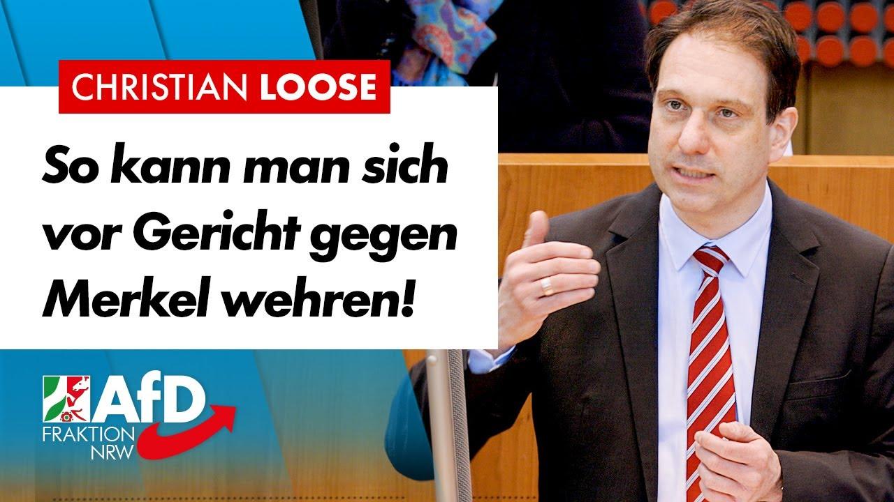 So kann man sich vor Gericht gegen Merkel wehren! – Christian Loose (AfD)