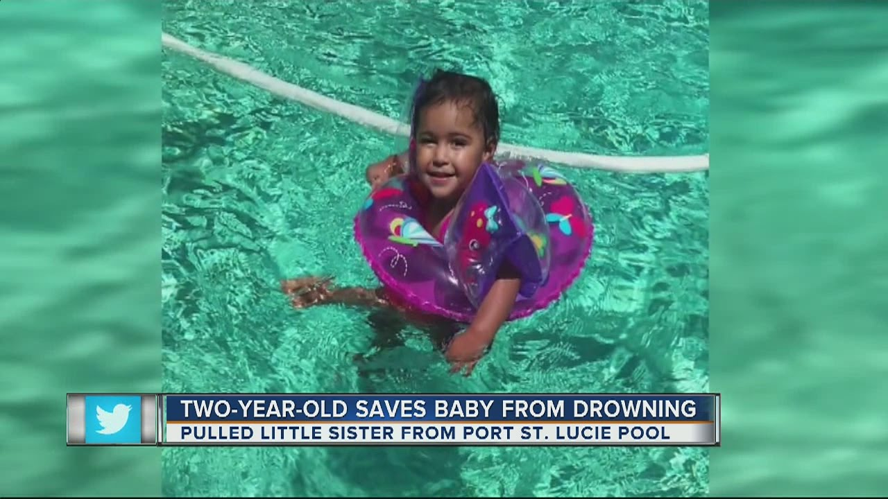 Two-year-old girl saves baby sister from drowning